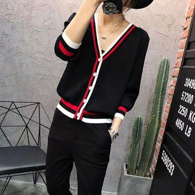 薄宽松冰丝针织衫开衫V领防晒衫空调衫女装新款韩版通勤外套上衣