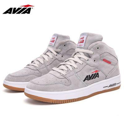 AVIA爱威亚板鞋男鞋高帮保暖冬季运动鞋学生户外厚底鞋鞋情侣鞋