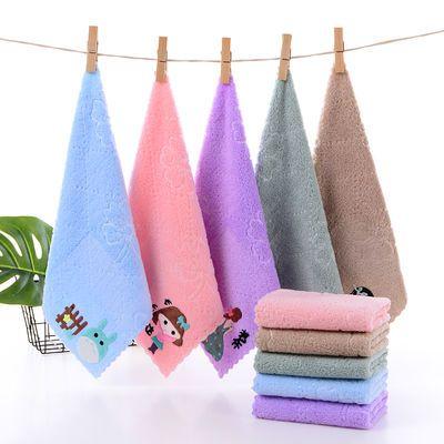3/6条装 儿童毛巾洗脸巾比纯棉柔软吸水珊瑚绒婴儿小毛巾方巾批发
