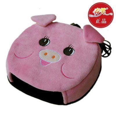 USB暖手鼠标垫/保暖发热鼠标垫加热USB暖手宝带护腕(粉猪)