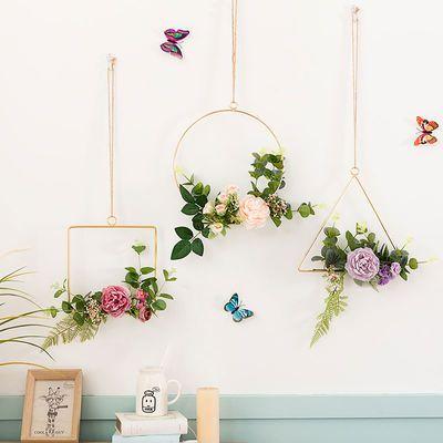 北欧风墙壁挂件创意房间卧室内餐厅墙上墙面装饰品家居客厅挂墙花