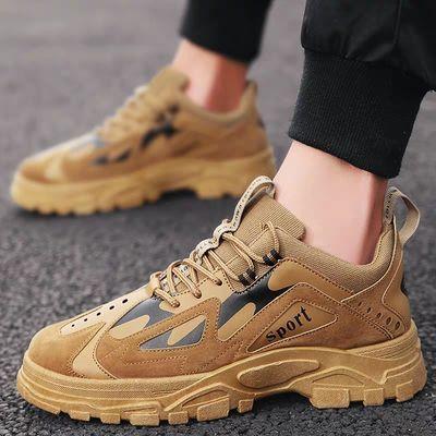 春夏季男鞋子内增高aj4韩版潮流休闲运动鞋男士学生透气帆布单鞋