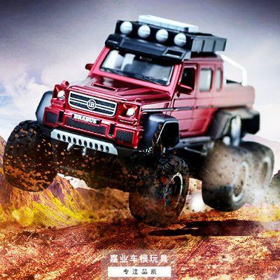 超大奔驰福特合金车模型六开门回力越野车儿童玩具车仿真小汽车男