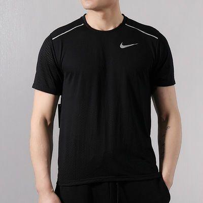 NIKE耐克男装2020春季新品运动休闲半袖透气跑服步T恤AQ9920-010