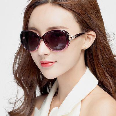 2018复古优雅太阳镜女士潮圆脸长脸时尚狐狸头墨镜开车眼睛眼镜
