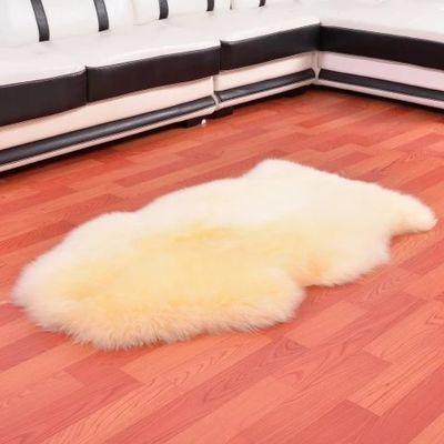 欧式澳洲整张羊皮纯羊毛地毯沙发垫飘窗垫客厅茶几卧室床边毯玄关