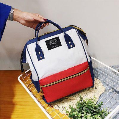 双肩包女2019新款学生书包旅行大容量外出妈妈包时尚多功能背包主图