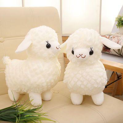 新品/2019/特卖用/分割可爱纯白色小绵羊毛绒玩具公仔儿童玩偶布