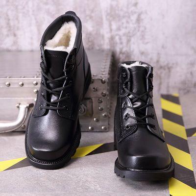 冬季军靴男特种兵作战靴真皮靴子雪地靴加绒加厚棉鞋羊毛靴爸爸鞋