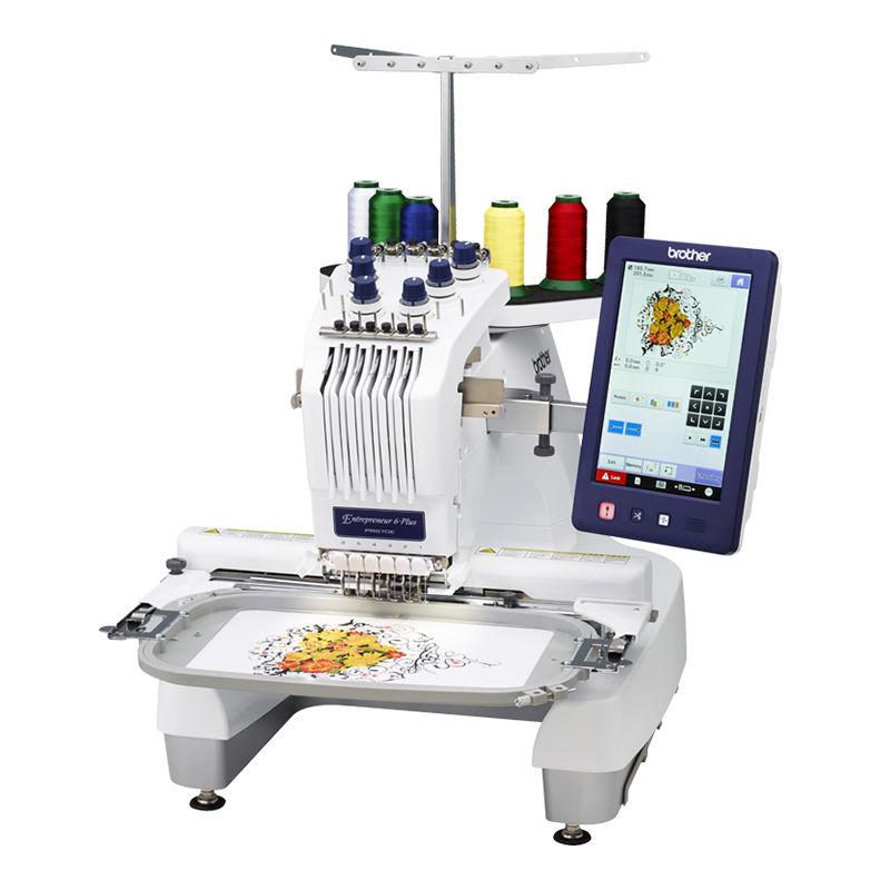 兄弟牌PR670E商业绣花机六针电脑绣花机绣字刺绣机吃厚刺绣面积广