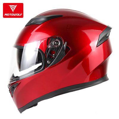 摩托车双镜片全盔机车骑士装备越野防摔全覆式头盔骑行防风安全帽