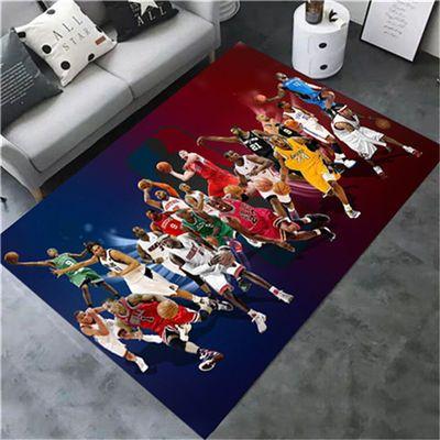 NBA篮球个性创意地毯客厅卧室床边阳台卡通电脑椅门垫转椅垫地毯