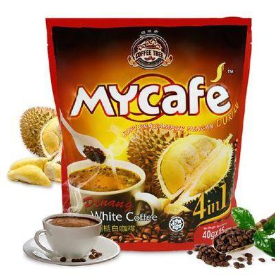 马来西亚槟城 榴莲白咖啡600g金装榴莲咖啡四合一白咖啡速溶咖啡