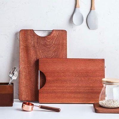 进口乌檀木菜板实木家用进口整木切菜板厨房占案粘板抗菌防霉砧板