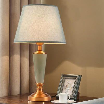美式卧室床头陶瓷台灯欧式现代简约温馨创意客厅茶几书房家用灯具