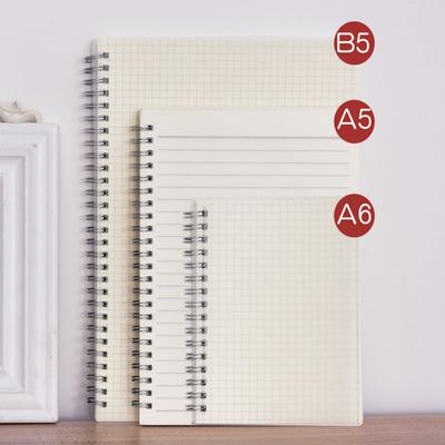 【送贴纸】A6/A5/B5网格本子线圈笔记本加厚网红小方格手账本学生
