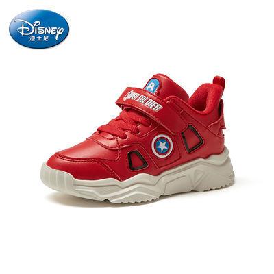 Disney迪士尼美国队长系列冬季新款男童鞋子儿童鞋休闲保暖运动鞋