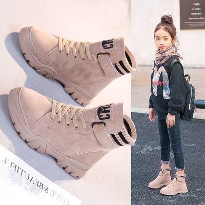 女童马丁靴2019秋冬新款洋气加绒女童靴子二棉儿童短靴女童鞋冬款