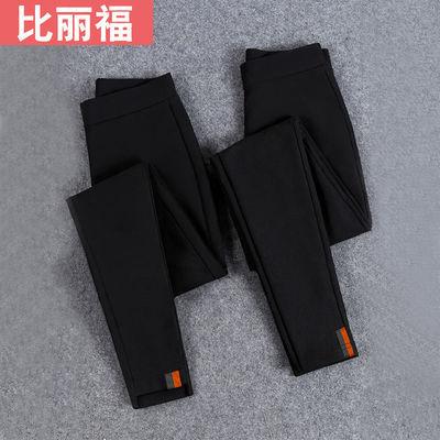 秋装女裤子加绒加厚打底裤女外穿紧身黑色九分铅笔裤学生韩版显瘦