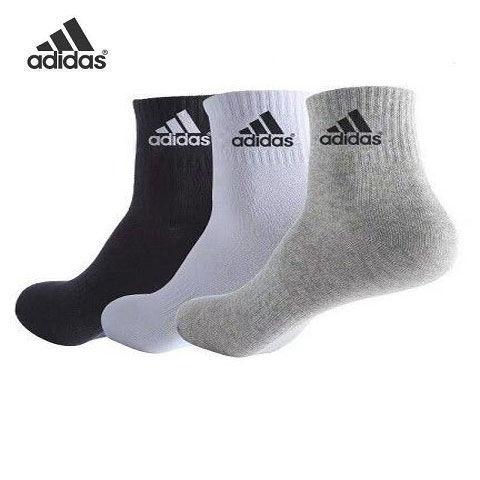 阿迪达斯袜子男女长中短筒袜学生纯棉秋冬防臭运动篮球袜五双装