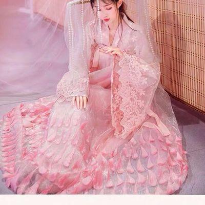 正版一比一九公主广袖对襟上襦孔雀羽毛刺绣齐胸襦裙超仙日常汉服