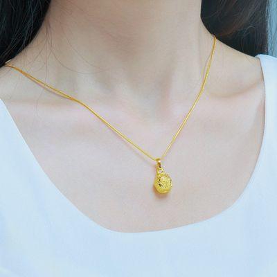越南沙金久不褪色镀金红绳苹果项链女欧币金饰品送女友婚庆礼物