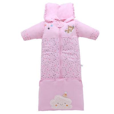 婴儿睡袋 秋冬纯棉新生儿童成长睡袋宝宝防踢被冬季保暖小孩睡袋