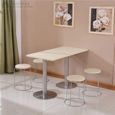 快餐桌椅 经济型小吃店4人位咖啡厅奶茶店酒吧简约长方形桌子包邮