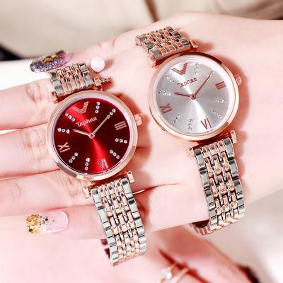 2020新款摩天轮女士手表钢表带镶钻满天星简约韩版学生网红手表女