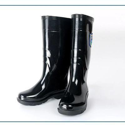 雨鞋男防水加厚耐磨底水鞋田地劳保成人高筒黑色防滑