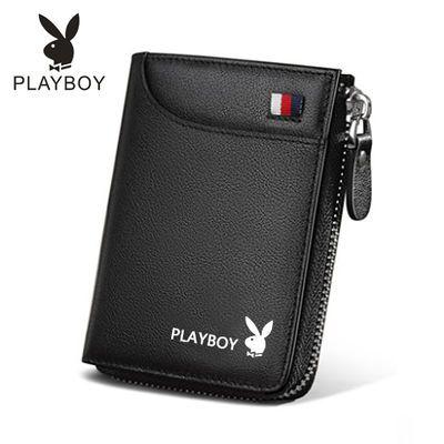 钱包男士短款皮配皮拉链钱夹驾驶证青年皮夹钱袋卡包