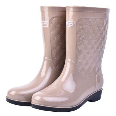 回力女款高筒中筒雨鞋女士防水雨靴牛筋底耐磨防滑高中筒水鞋包邮