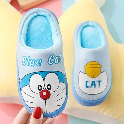 秋冬季儿童棉拖鞋男女童居家室内包跟棉拖中大童亲子保暖宝宝拖鞋