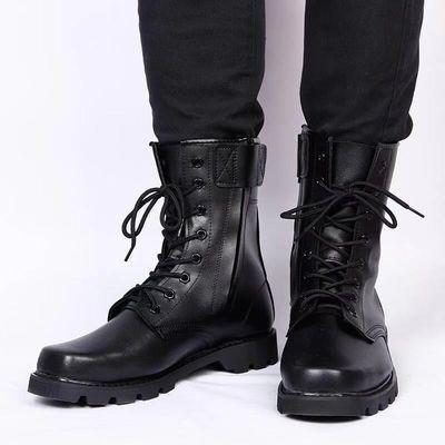 军靴男特种兵作战靴防爆靴马丁靴高帮户外保暖羊毛靴保安鞋男靴