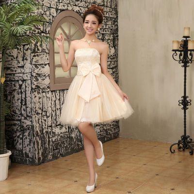 韩版婚纱2018秋新款新娘结婚婚纱礼服简约显瘦齐地抹胸红色蓬蓬裙