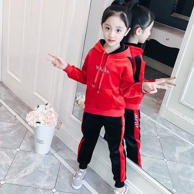 童装女童冬装儿童套装金丝绒三件套加绒加厚大童女装小女孩子衣服