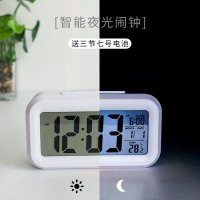 简约创意夜光电子钟静音宿舍床头闹钟学生用男女儿童个性智能时钟