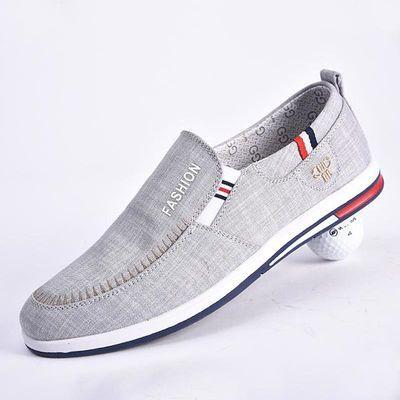 春夏流行青年男布鞋老北京布鞋牛仔帆布鞋平底休闲鞋防滑耐磨布鞋