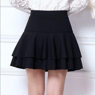 防走光超短裙半身裙性感迷你短裙女夏季裙子韩版高腰蓬蓬裙A字裙