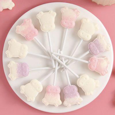 卡通牛头奶棒糖可爱创意网红儿童零食牛奶棒棒糖喜糖小孩糖果批发