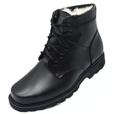 冬季军靴男棉鞋真羊毛雪地靴特种兵作战靴加绒加厚短筒皮靴爸爸鞋