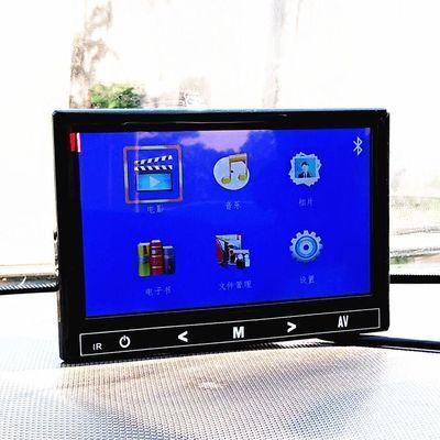 12V24V7寸9寸货车倒车影像车载蓝牙MP5插卡插U盘显示屏吸盘显示器