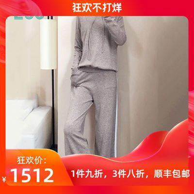 FZOG/费佐格 休闲运动套装女秋季2019新款宽松时尚针织卫衣两件套