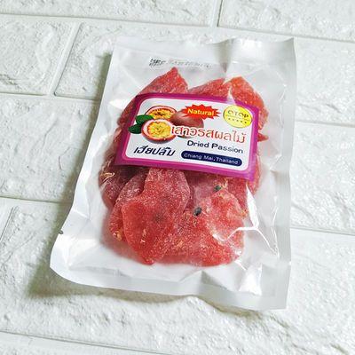 泰国特产原装进口百香果干果肉120g 低糖水果干零食果干果脯蜜饯