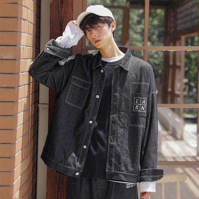 青年工装外套男韩版潮流宽松上衣2019新款潮牌休闲夹克时尚男装