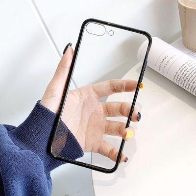 苹果7plus手机壳硅胶透明仿xr玻璃iPhone11/xsmax防摔8套6sp全包x