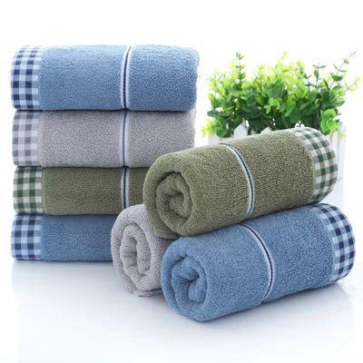 3-5条纯棉毛巾擦脸面巾家用柔软吸水成人可爱洗澡洗脸巾男女