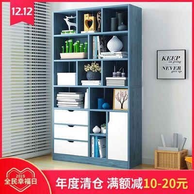 热销书架简易学生木质书柜收纳柜多层多功能落地储物架卧室置物架