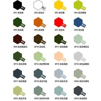 25-XF6丙烯颜料XF田宫水性漆 8 哑光消光漆 手办军模高达模型