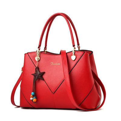 皮包包2020新款中年女士包包妈妈包单肩斜挎手提包简约大容量女包